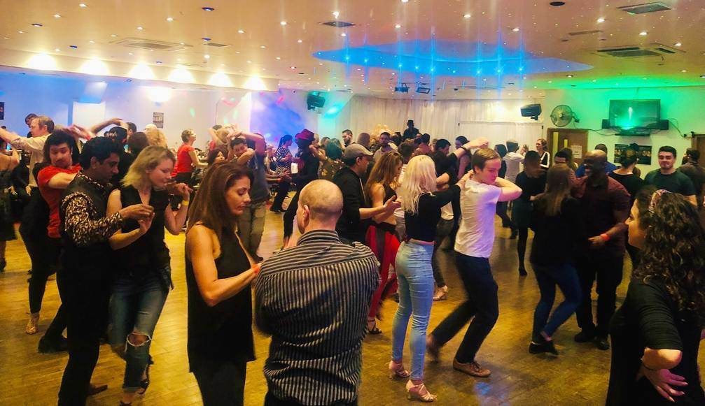 People learning Salsa in London